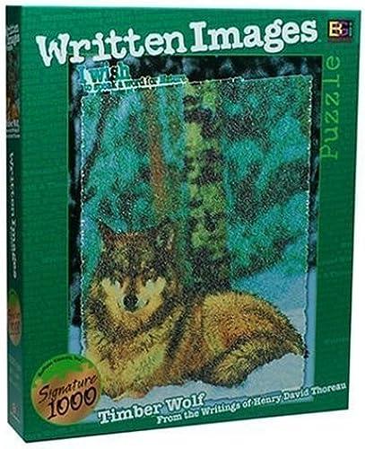 comprar nuevo barato Written Images Puzzle  Timber Wolf by Buffalo Buffalo Buffalo Games  100% precio garantizado
