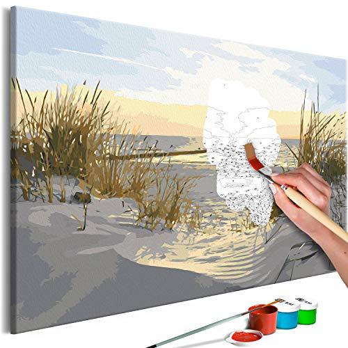 murando Pintura por Números Playa Mar 60x40 cm Cuadros de Colorear por Números Kit para Pintar en Lienzo con Marco DIY Bricolaje Adultos Niños Decoracion de Pared Regalos n-A-0750-d-a