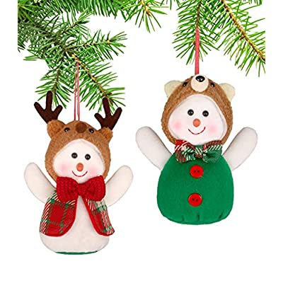 YING LING CRAFTS Christmas Tree Ornaments Snowm...