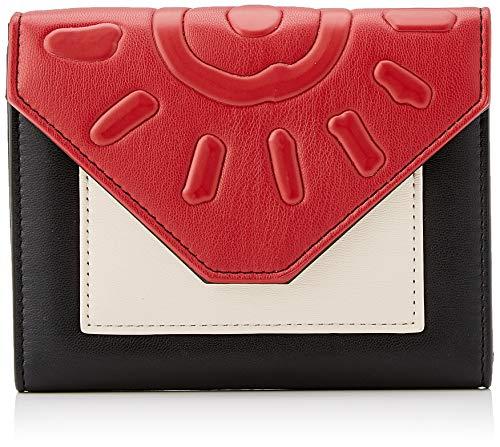 Desigual Wallet More Dreams Lengueta Mini, Billetera para Mujer, Negro (Negro), 11x2.5x14 Centimeters (B x H x T)
