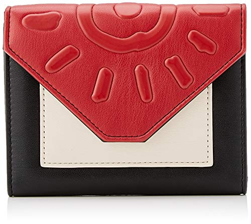 Desigual Wallet More Dreams Lengueta Mini, Billetera para Mujer, Negro (Negro), 11x2.5x14 Centimeters (B x H x T)