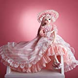 UCanaan BJD Doll, 1/3 SD Dolls 24 Inch 18 Ball Jointed Doll DIY Toys with Clothes Outfit Shoes Wig Hair Makeup, Best Gift for Christmas - Olinna