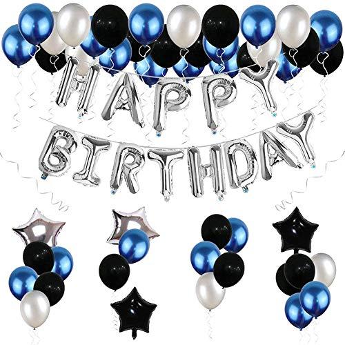 FANDE Geburtstag Dekorationen, 67 Stück Happy Birthday Banner Folienballons Latexballons, Ballons für Hochzeit Valentinstag Mädchen Jungen Kinder Geburtstag Deko