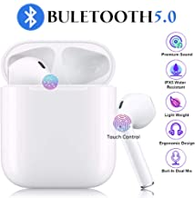 Bluetooth Headphones Wireless Earbuds Stereo Sound Earphones Mini Headset Auto Pairing Compatible with Apple iPhone Sumsung Galaxy iOS/Android Devices