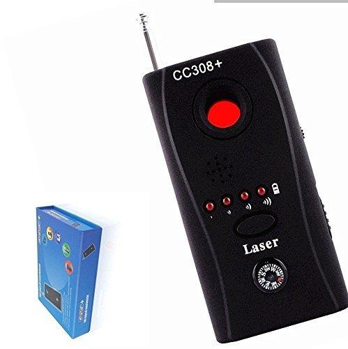 AGPtek CC308 Anti-Spy Signal Bug RF Detector Hidden Camera Laser Lens GSM Device Finder - Mute Vibration + Beep + LED indicator , Earphone and Charger included