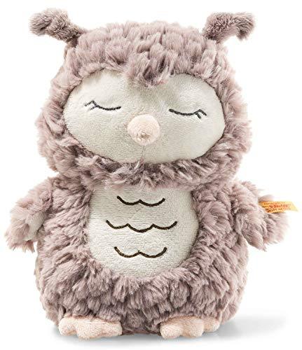 Steiff Ollie Eule - 23 cm - Kuscheltier für Babys - Soft Cuddly Friends - weich & waschbar - rosebraun (241833)