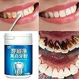 Natürliche Zahnaufhellung, Huihong Zahnpasta Bleaching Pulver, Wirksam zu Entfernen Mundgeruch, Teefleck, Kaffeefleck, Pigment Zähne, Zahnbelag.