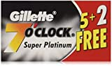 140 7 O'clock Super Platinum Double Edge Safety Razor Blades (20 tucks of 7 blades on a display...