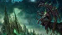 World of Warcraft大人と子供のための5DダイヤモンドペインティングDIYフルラウンドドリルダイヤモンドラインストーンペインティングキットクラフト家の装飾ギフト-(30X40cm)