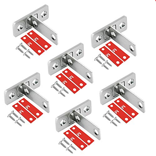NATEE 6 PCS Magnetschnäpper Schranktür Verriegelung Möbelmagnet Starke Magnetischer Schranktür Schublade Türschließer Magnetverschluss mit Schrauben für Kabinett Balkontür Schiebetür Magnetschloss