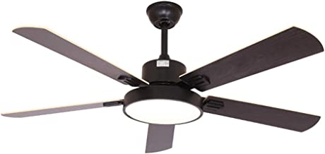 QUKAU 52INCH silent ceiling fan light remote control home restaurant with light fan chandelier LED hanging fan lamp (grey, 52 inches)