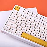 Keycap 140 Tasten DSA Profil PBT DYE-SUB Honey Milk Tastenkappen für Cherry MX Switch Mechanische Gaming-Tastatur (Englisch)