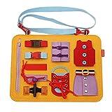 Wuhanyimang Tabla de actividades básicas para bebés, juguetes educativos preescolares, juguetes de viaje para niños, motor fino y aprender a vestirse para niños de 1 2, 3, 4, 5 y 6 años