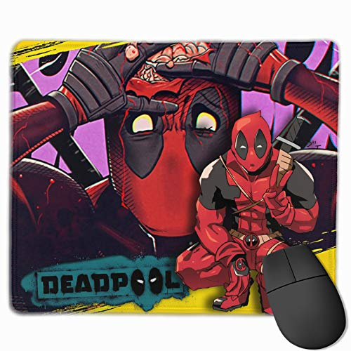Gaming Mouse Pad with Anti-Fray Cloth Surface, Extended Modern Mouse Mat Suit for Gaming Sensors, Christmas Comics Hero Movies Desk Pad for Kids School