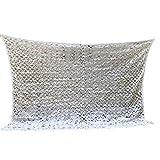 FKDENET Ocultación Blanco Camuflaje Militar Net Mallas Sombra Neta for jardín sombreado Pergola decoración Exterior Toldo (Size : 2x2m/6.6ftx6.6ft)