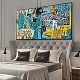 Impresión de lienzo 60x120cm sin marco abstracto calle Graffiti impresión cuervo imagen nórdica dormitorio pared arte cartel impresión decoración de sala de estar