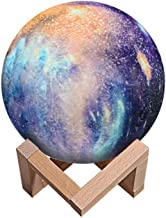 Uonlytech Moon Lamp 3D Printing LED Touch and Remote Control Bedside Light Desktop Decorative for Bedroom Living Room Home...
