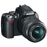 Nikon D60 Appareil photo numérique Reflex 10.2 Kit Objectif AFS DX VR 1855 mm Noir (Reconditionné)