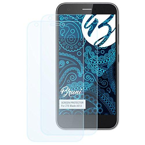 Bruni Schutzfolie kompatibel mit ZTE Blade A512 Folie, glasklare Bildschirmschutzfolie (2X)