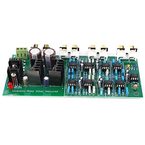 Elprico Amplifier Board, scheda di divisione della frequenza a 6 canali elettronica a 3 vie con filtro Linkwitz-Riley (310HZ/3.1KHZ)