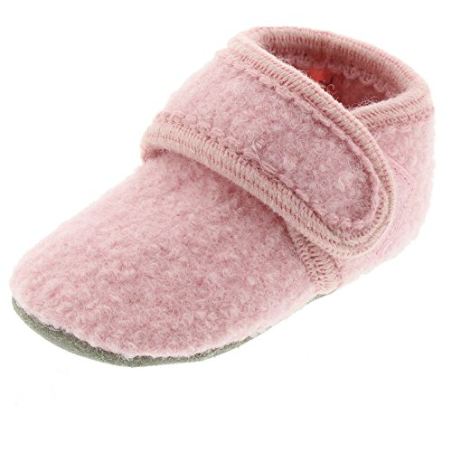 Celavi Baby Unisex Wollschuhe, Alter 9-18 Monate, Größe: 19/20, Farbe: Rose melange, 3953