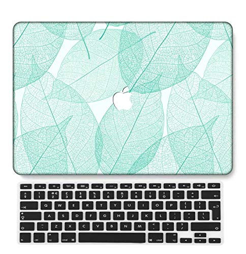 GangdaoCase Plastic Ultra Slim Light Hard Shell Case Cut Out Design Compatible New MacBook Pro 15 inch with Touch Bar/Touch ID with UK Keyboard Cover A1707/A1990 (Mint Green A 04)