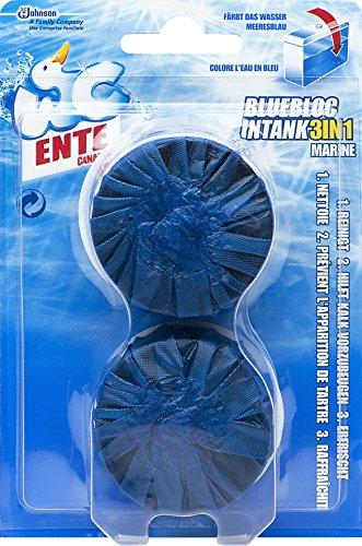 WC Ente Blue Bloc Intank Tabs für Wasserkästen, Reinigungstabletten für Frische und Sauberkeit, 4er Pack (8 x 50 g)