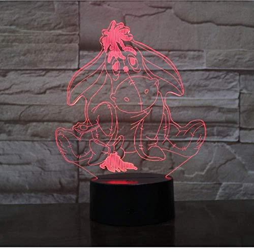 Winnie L'ourson Ami Mignon Dessin Animé 3D LED Veilleuse 7 Couleur Tactile Lampe de Maison Décoration Enfants Décoration De Vacances Cadeau