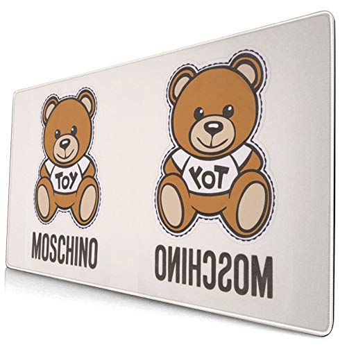 MGBGAT Moschino Bear Keyboard Pad, Mouse Pad for Gaming, Mouse Pad Large, Non-Slip Rubber Base, Waterproof, Keyboard Pad for Computers, Laptop, Gaming, Office & Home