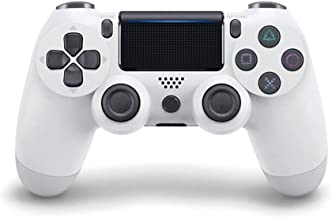 $62 » Bluetooth Game Controller Controller Bluetooth Vibration Gamepad for Playstation 4 Wireless Joystick for PS4 Games Console (Color : White)