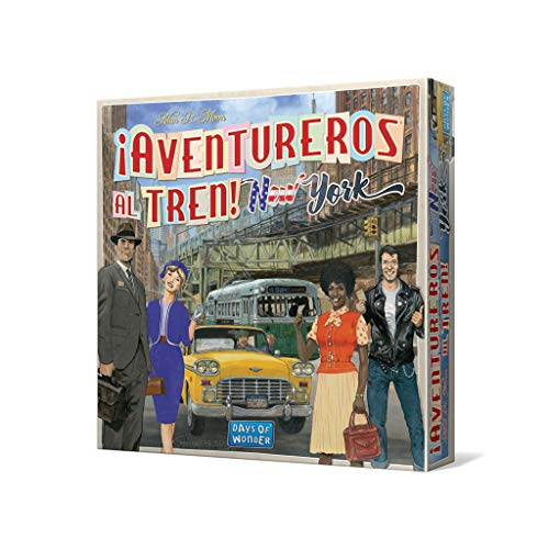 Days of Wonder-¡Aventureros al Tren New York-Español, multicolor (Edge Entertainment DW720860) ,...