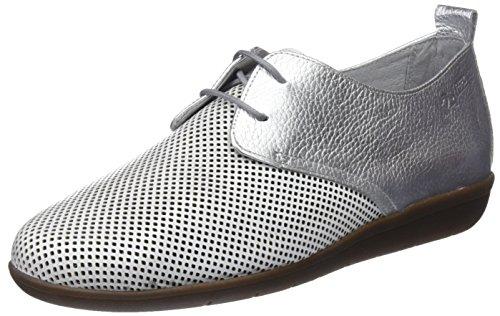 24 HORAS 23538, Zapatos de Cordones Oxford Mujer, Plateado (Plata 9), 36 EU