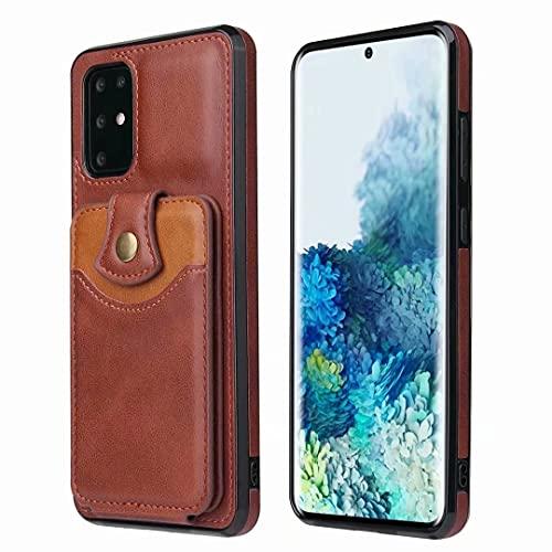 Funda para Samsung Galaxy A02S Galaxy A02S de piel sintética de alta calidad con tapa protectora y función atril para Samsung Galaxy A02S, color marrón