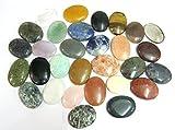 Treinta piedras preciosas piedras de preocupación Reiki cristal curativo regalo de bienestar metafísico pulgar piedra poderosa meditación energía hecha a mano