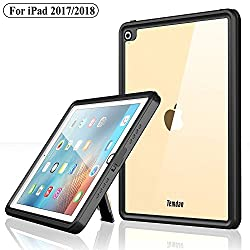 small Temdan iPad 2017 / iPad 2018 Waterproof case Sturdy and smooth transparent cover with integrated screen…