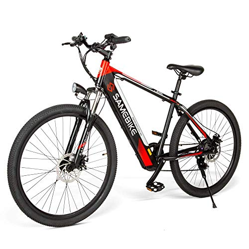 SAMEBIKE Electric Bicycle 3 Modes 250W Mountain Bike 36V 8Ah Removable Lithium Battery High Carbon Steel