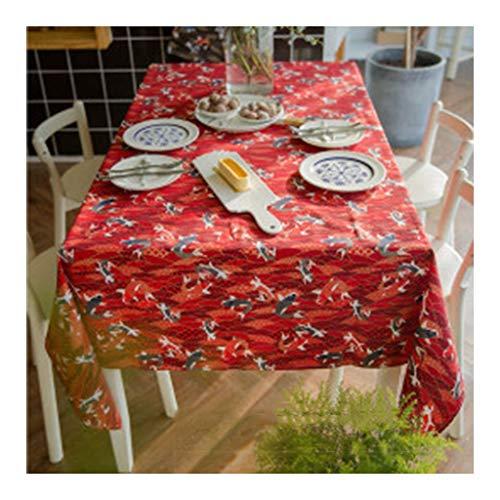 Onbekend tafelkleed rechthoekig brons rood carp tafelkleed salontafel eettafel tafelkleed