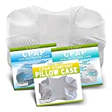 EnduriMed CPAP Pillow and EnduriMed CPAP Pillow Case - Standard White - Cooling Fabric, Blue - Cooling Fabric, White - Cooling Fabric, White