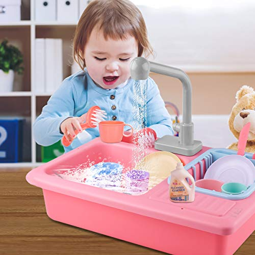 ZEEBABA Dishwasher Toy,Pretend Kitchen Sink Toys,Children...