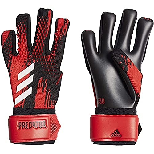 adidas PRED GL LGE Soccer Gloves, Black/Active red, 10