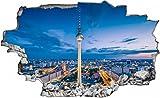 Berlin Stadt Skyline Nacht Wandtattoo Wandsticker Wandaufkleber C0274 Größe 60 cm x 90 cm