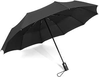 SHANGRUIYUAN-Umberllas Travel Umbrella for Women Men Folding Umbrella Windproof Durable Reinforced Canopy Auto Open Close 10 Reinforced Fiberglass Ribs (Color : Black, Size : One Size)