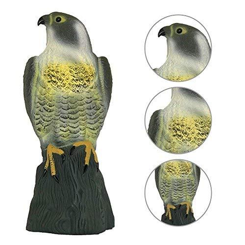 ruist-eu Halcón Realista Señuelo Pájaro Repelente Jardín Decoración Pájaro Detergente Jardín Cebo de Caza PE Plástico águila Decoración