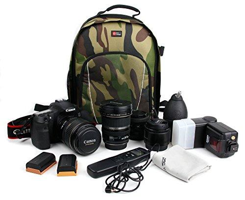 DURAGADGET Sac à Dos pour caméra Sportive Sony RX0 - Motifs Camouflage + Compartiments de Rangement