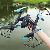 ZHLFDC 4 Axes Avions téléguidés aérienne Pliant Drone Toy Quadcopter Rachel Helicopter Avions 3D Flips RC WiFi Temps réel Transmission FPV Headless Mode Avion Dron Drones Cadeaux for Adultes Enfants