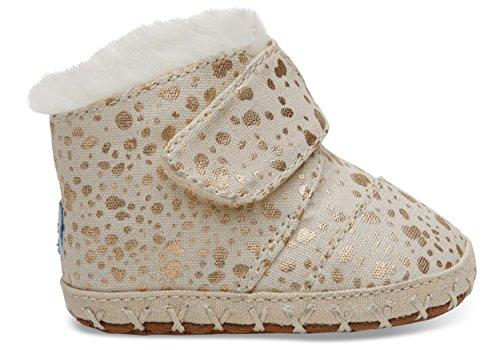 TOMS Tiny Cunas Gold Foil Snow Spots 10010755 Infant Size 2