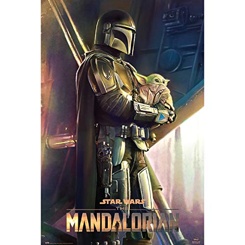 Grupo Erik Póster Star Wars The Mandalorian Clan of Two, Baby Yoda, Grogu, 61 x 91,5 cm