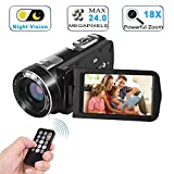 Video Camera Camcorder with IR Night Vision, WEILIANTE...