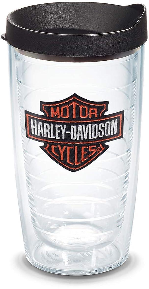 家庭下向きペインHarley - Davidson ?バー&シールドラップ、旅行タンブラー、コーヒー& Cold Beverages。16オンス。hrlyi16prmllblk