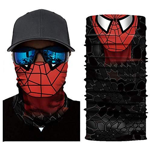 Dailygocn Super Hero Bandanas Gesichtsmaske Motorrad Schal Kopfbedeckung Halloween Cosplay Maske Gr. Einheitsgröße, C